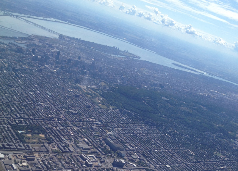 Montreal from the air